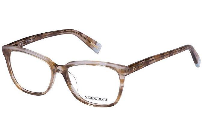 Óculos de Grau Victor Hugo VH1708 0V35/52 Marrom Transparente Mesclado