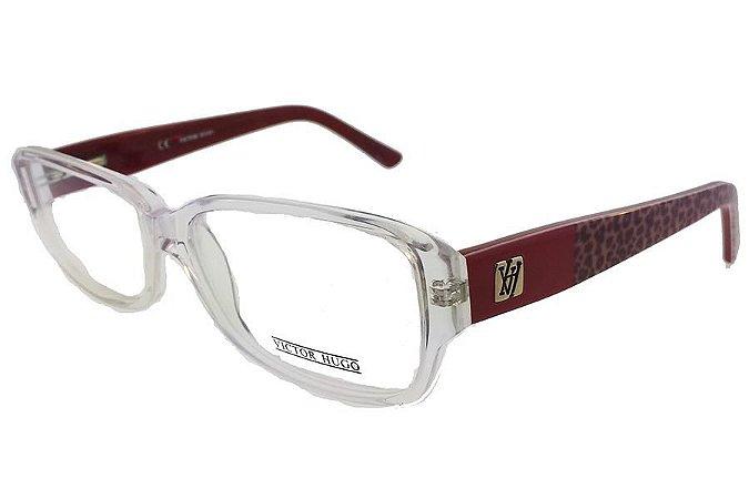 Óculos de Grau Victor Hugo VH1648K P79/55 Transparente/Bordô