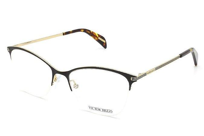 Óculos de Grau Victor Hugo VH1256 0301/51 Preto/Dourado