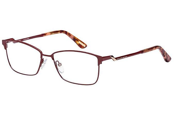 Óculos de Grau Victor Hugo VH1253 08P9/55 Vermelho