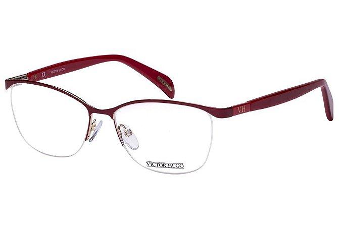 Óculos de Grau Victor Hugo VH1249 0A58/54 Vermelho