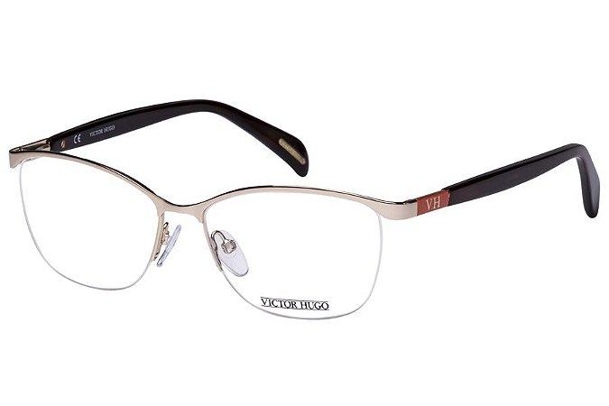 Óculos de Grau Victor Hugo VH1249 0300/54 Dourado/Marrom