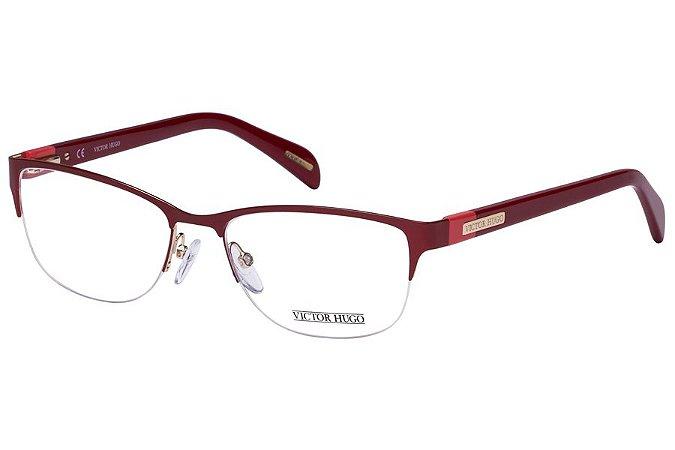 Óculos de Grau Victor Hugo VH1248 08LP/54 Vermelho