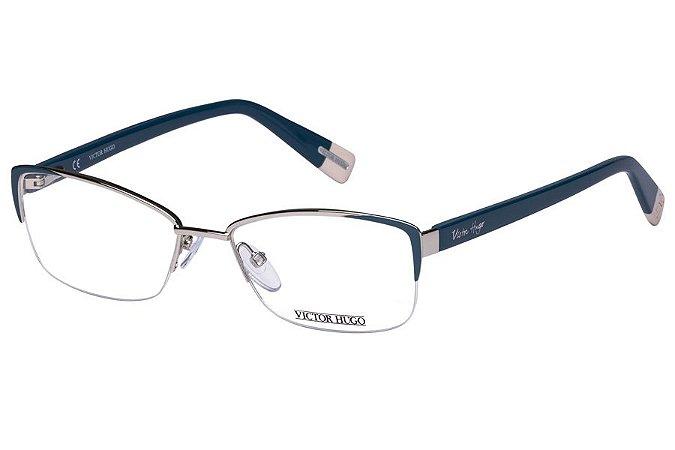 Óculos de Grau Victor Hugo VH1245 0E63/54 Azul/Prata
