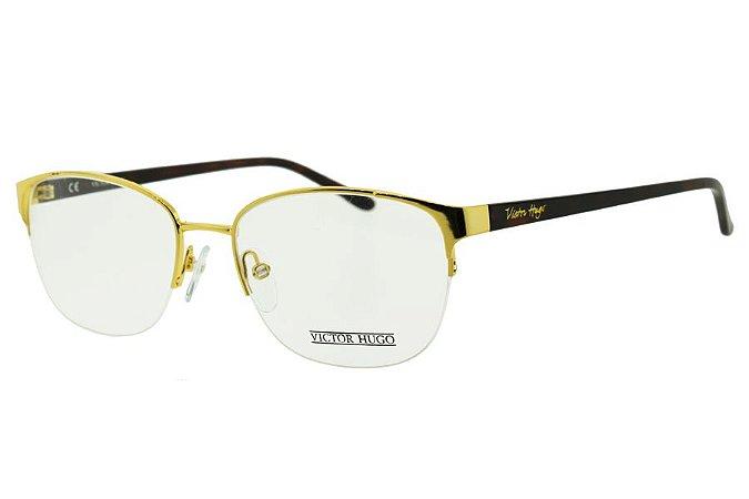 Óculos de Grau Victor Hugo VH1212 200/53 Dourado