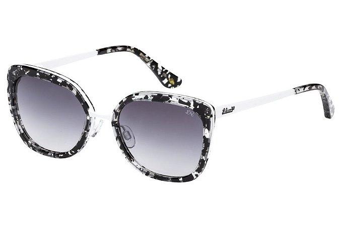 Óculos de Sol Lilica Ripilica SLR124 C06/48 Mesclado Preto/Branco