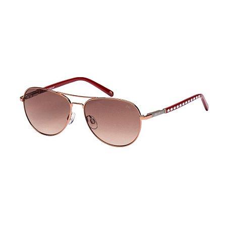 Óculos de Sol Lilica Ripilica SLR110 C05/50 Dourado/Vermelho