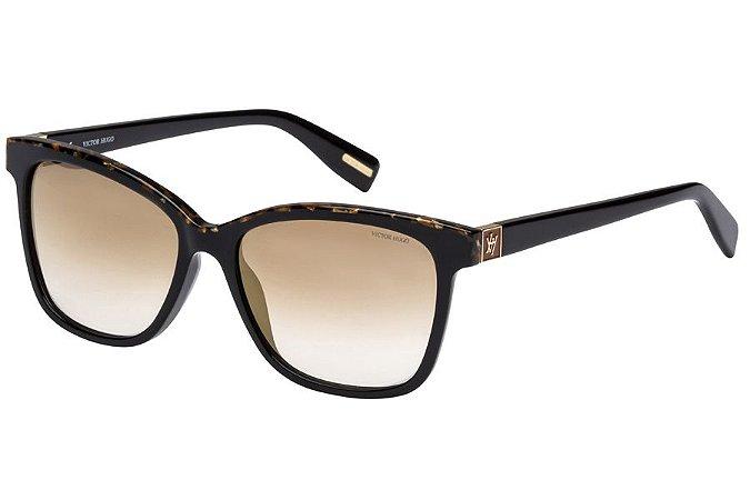 Óculos de Sol Victor Hugo SH1763 T24G/54 Preto/Mesclado
