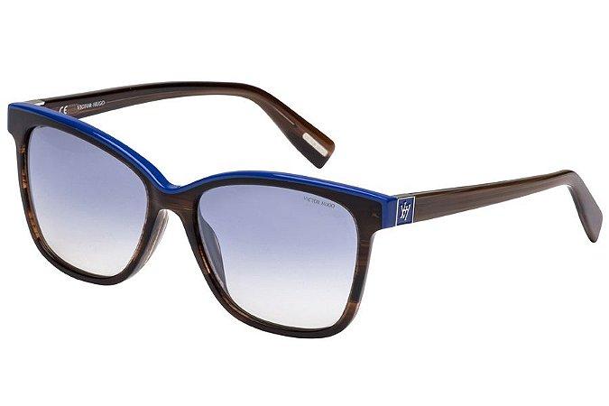 Óculos de Sol Victor Hugo SH1763 0M61/54 Marrom/Azul