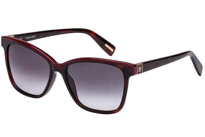 Óculos de Sol Victor Hugo SH1763 09AT/54 Marrom/Vermelho