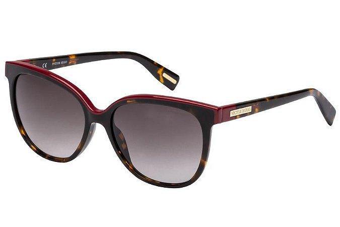 Óculos de Sol Victor Hugo SH1762 0752/55 Tartaruga/Bordô