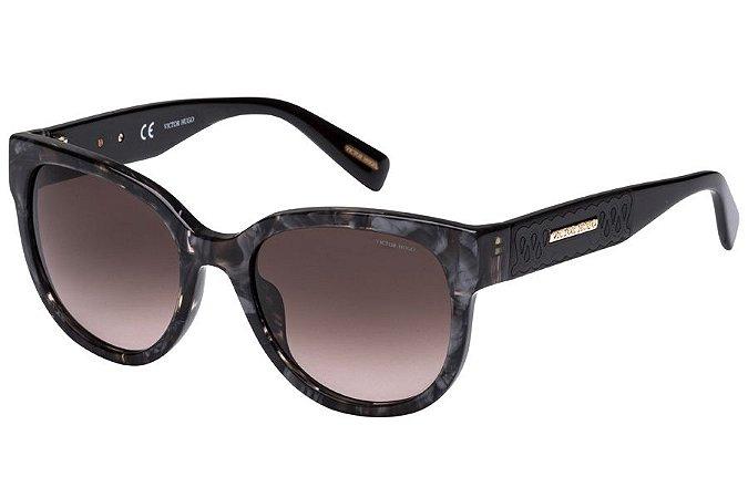 Óculos de Sol Victor Hugo SH1761 0U79/53 Preto Mesclado