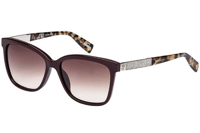 Óculos de Sol Victor Hugo SH1748 09MR/56 Vinho Brilhante