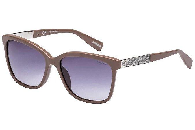 Óculos de Sol Victor Hugo SH1748 072M/56 Bege