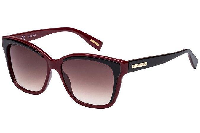 Óculos de Sol Victor Hugo SH1742 0Z10/56 Bordô/Preto