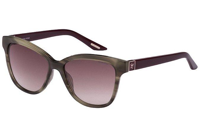 Óculos de Sol Victor Hugo SH1731 0P90/54 Verde Musgo/Vinho