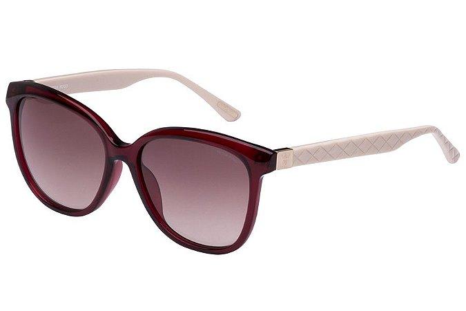 Óculos de Sol Victor Hugo SH1713 0954/55 Bordô/Branco