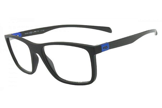 Óculos de Grau HB Duotech 93138/50 Preto Fosco/Carbono D. Azul
