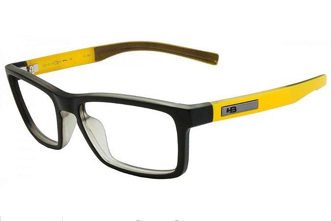 Óculos de Grau HB Polytech Teen 93123/53 Preto/Amarelo