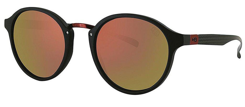 Óculos de Sol HB Brighton 9012970290/50 Preto Fosco com Vermelho espelhado
