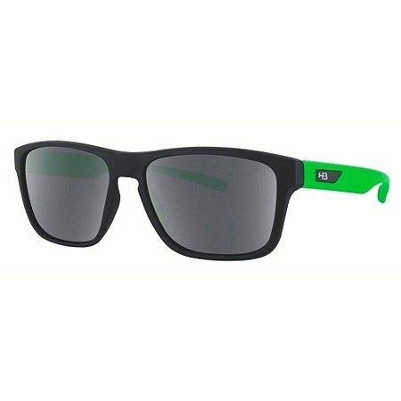 Óculos de Sol HB H-Bomb Teen 9012465600/49 Preto Fosco com Verde