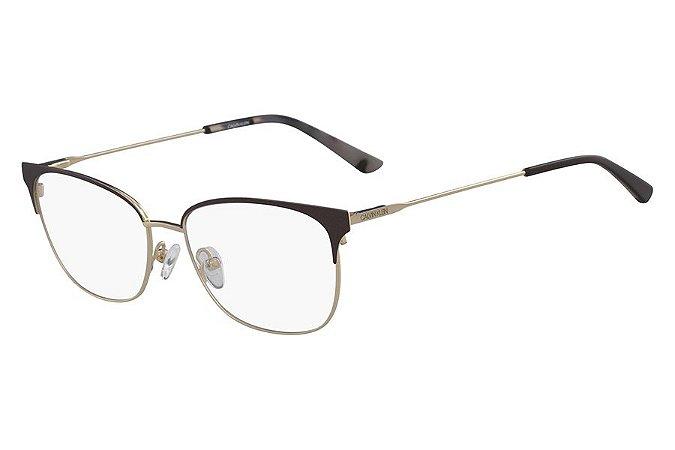 Óculos de Grau Calvin Klein CK18108 200/52 Marrom