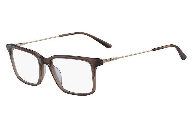 Óculos de Grau Calvin Klein CK18707 210/55 Marrom Transparente