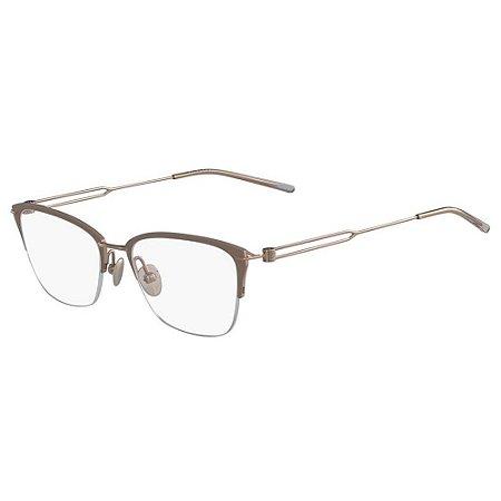 Óculos de Grau Calvin Klein CK8065 272/52 Castanho Fosco/Rosa Dourado