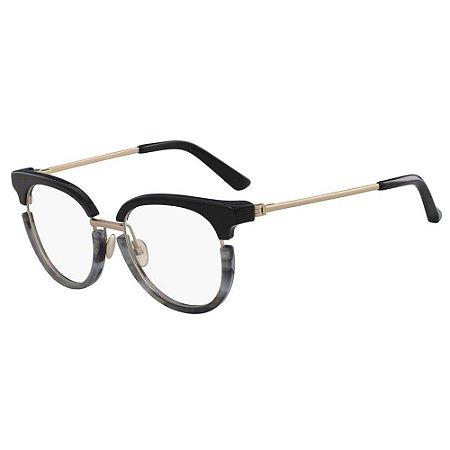 Óculos de Grau Calvin Klein CK8061 076/50 Preto/Cinza