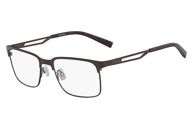 Óculos de Grau Nautica N7287 210/58 Marrom Fosco
