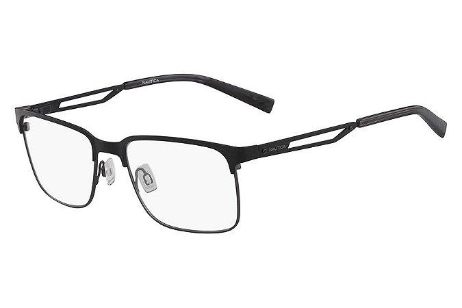 Óculos de Grau Nautica N7287 005/58 Preto Fosco