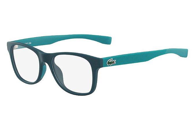 Óculos de Grau Lacoste L3620 315/48 Verde Fosco