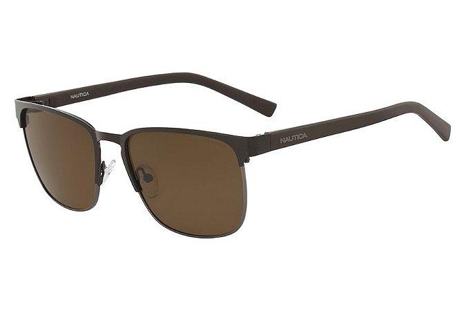 Óculos de Sol Nautica N4621SP 245/56 Marrom Fosco/Cinza