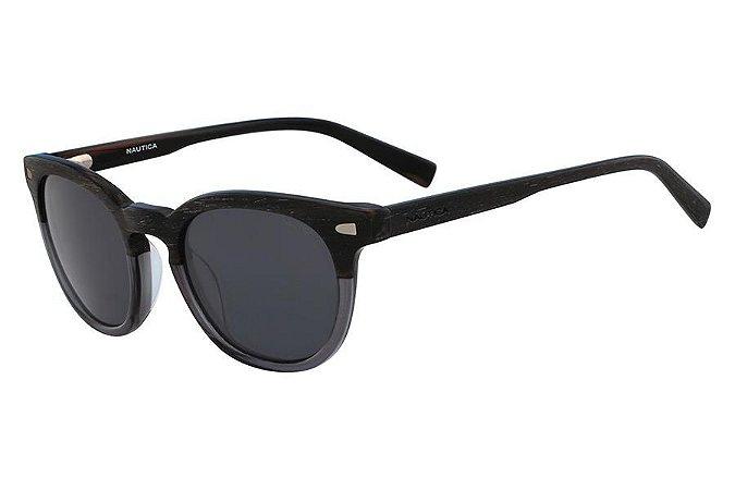 Óculos de Sol Nautica N6218S 010/51 Marrom/Fumaça