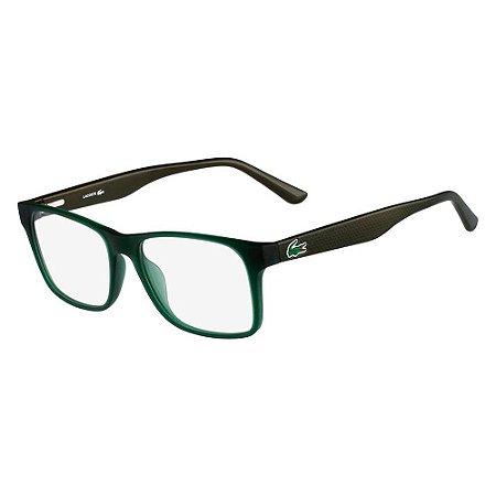 Óculos de Grau Lacoste L2741 315/53 Verde Fosco