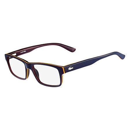 Óculos de Grau Lacoste L2705 414/53 Azul/Roxo