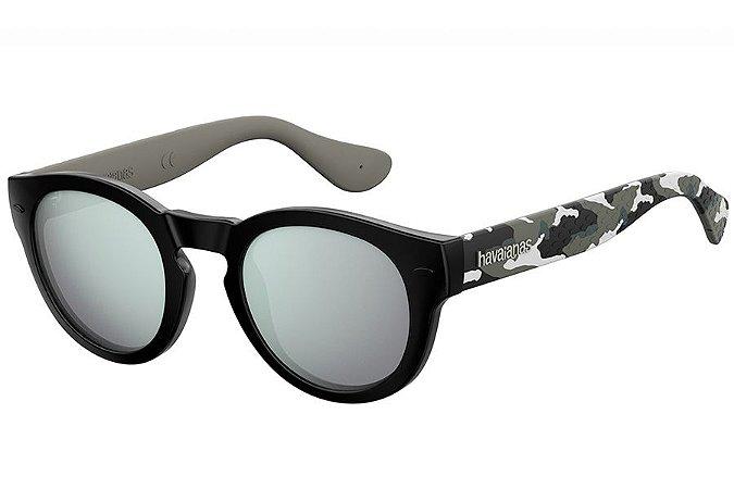 Óculos de Sol Havaianas Trancoso/M 223842 1EI-DC/49 Preto/Cinza Camuflado