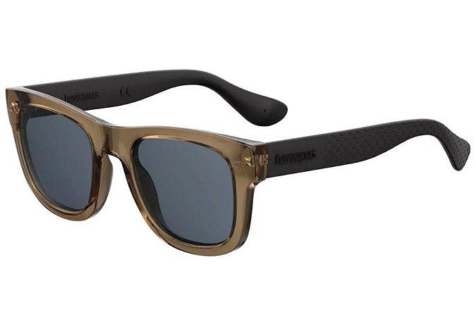 Óculos de Sol Havaianas Paraty/L EWD KU/52 Marrom Transparente/Preto