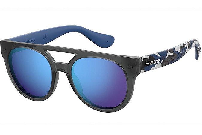 Óculos de Sol Havaianas Buzios 201424 DRP-Z0/53 Cinza/Azul Camuflado