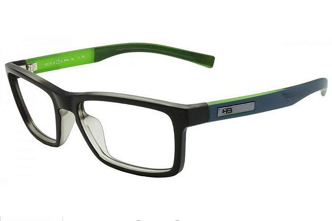 Óculos de Grau HB Polytech Teen 93123/53 Preto Fosco/Verde