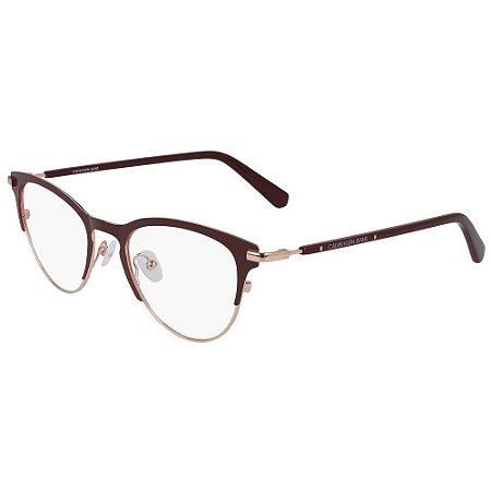 Óculos de Grau Calvin Klein Jeans CKJ20302 603/49 - Marrom