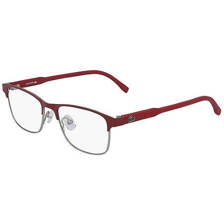 Óculos de Grau Lacoste L3107 615/49 - Vermelho - Infantil