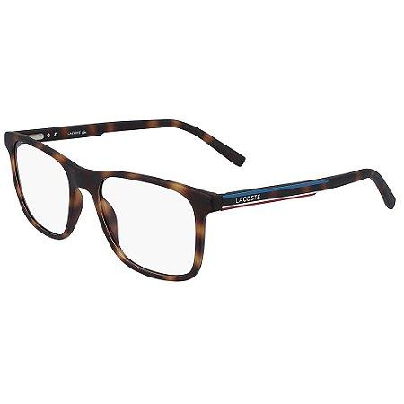 Óculos de Grau Lacoste L2848 214/53 - Marrom