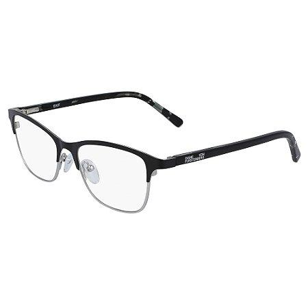 Óculos de Grau Diane Von Furstenberg DVF8073 001/50 Preto - Quadrado