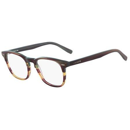 Óculos de Grau Lacoste L2832 318/50 - Marrom