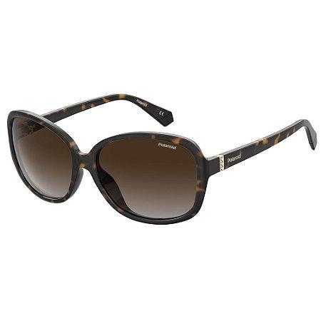 Óculos de Sol Polaroid PLD 4098/S/58 Marrom - Polarizado