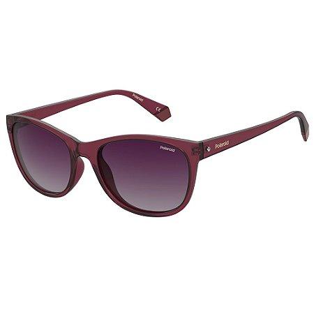 Óculos de Sol Polaroid PLD 4099/S/55 Roxo - Polarizado
