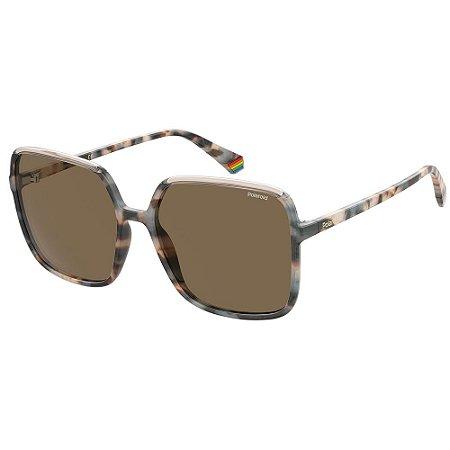 Óculos de Sol Polaroid PLD 6128/S/59 Marrom - Polarizado