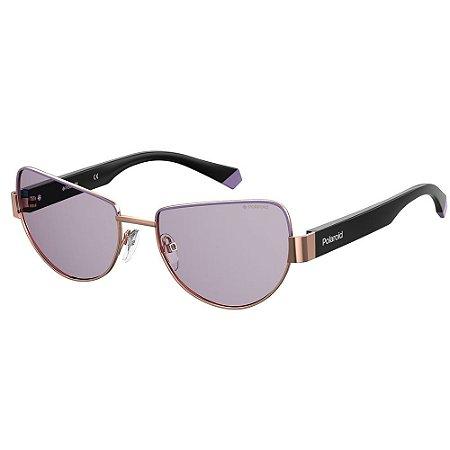 Óculos de Sol Polaroid PLD 6122/S/57 Roxo - Polarizado