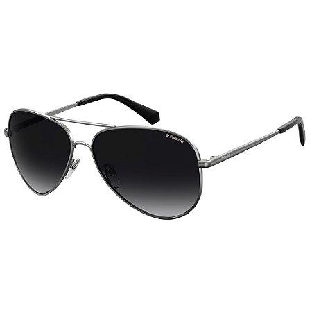 Óculos de Sol Polaroid PLD 6012/N/NEW/62 Cinza - Polarizado